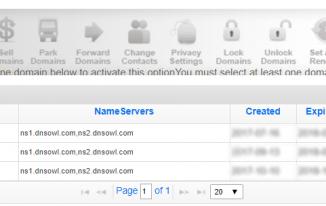 Quản lý tên miền trong NameSilo