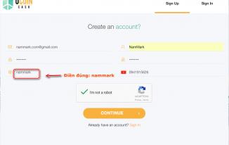 Đăng ký tài khoản UcoinCash